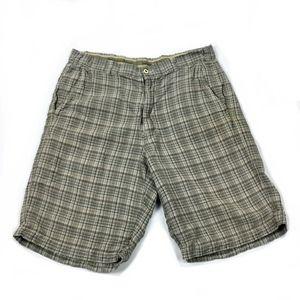 Tommy Bahama Silk Linen Plaid Golf Shorts